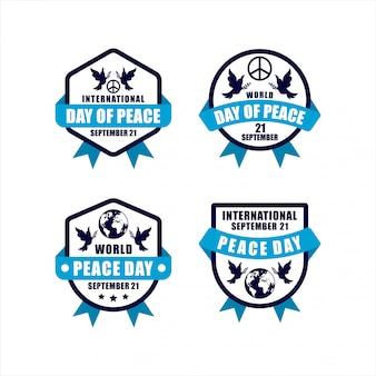 国際平和デーバッジコレクション