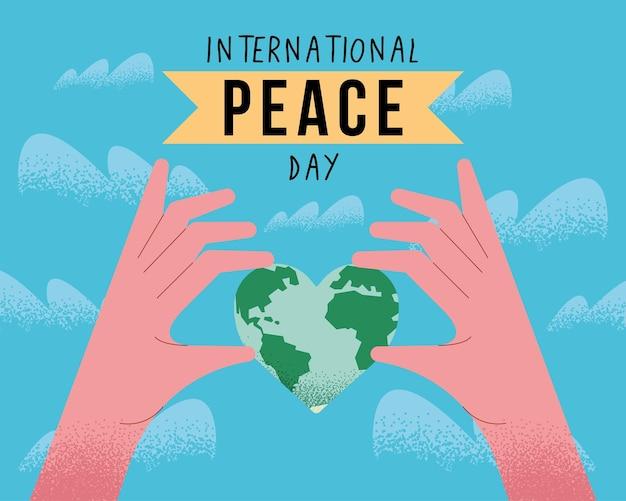 世界との国際平和デーカード