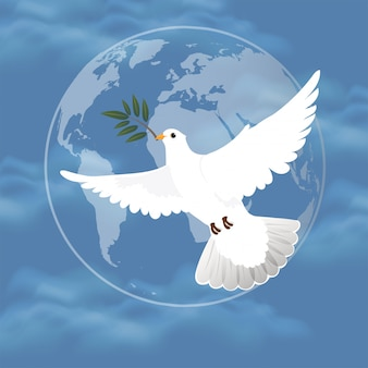 International peace day concept.