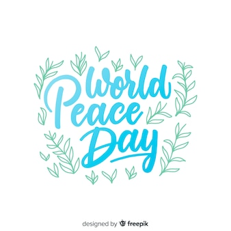 International peace day concept
