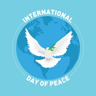International peace day greetings card