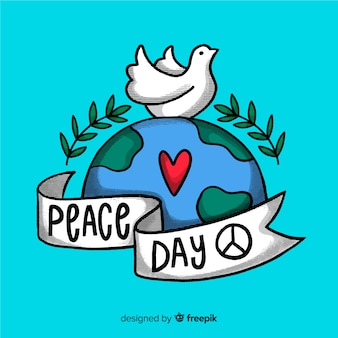 International peace day lettering