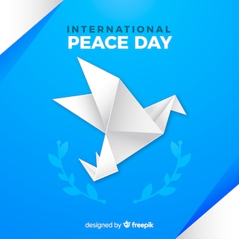 International peace day origami dove