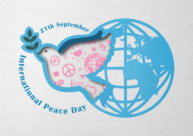 International peace day poster campaign in vector design