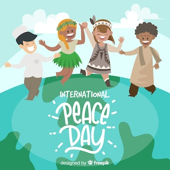 International peace day with children