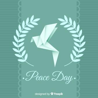 종이 접기 비둘기와 함께 국제 평화의 날