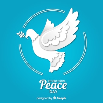 International peace day with paper dove