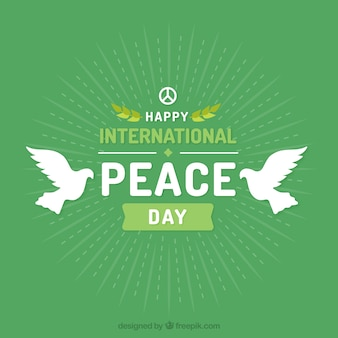 International peace day with white doves