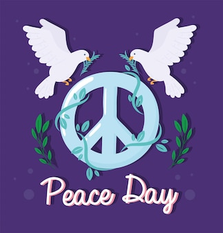 국제 평화 인사말 카드