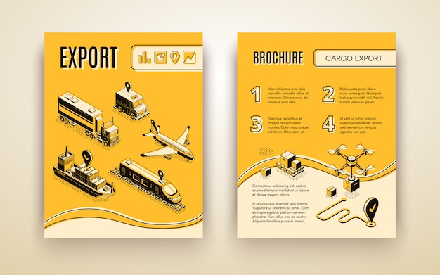 International shipping service brochure