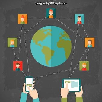 国際ソーシャルネットワークcocept