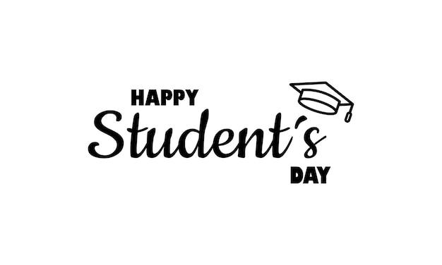 Значок международного студенческого дня. концепция образования. учеба в университете или колледже. вектор на изолированном белом фоне. eps 10.