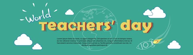 International teacher day world holiday banner