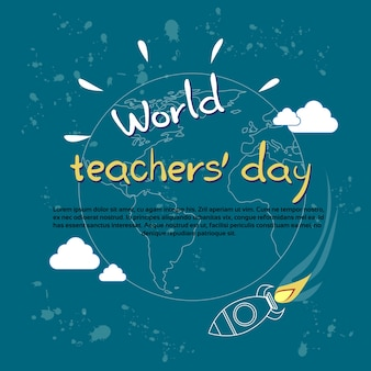 International teacher day world holiday banner