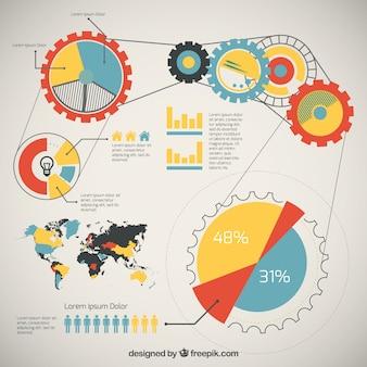 International teamwork infographic