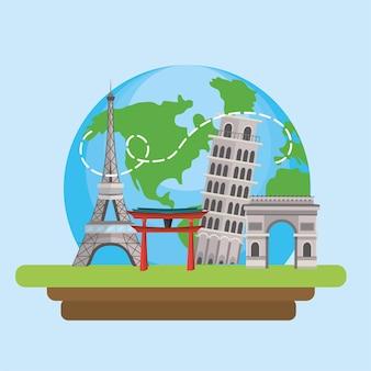 International tourist journey and fun adventure