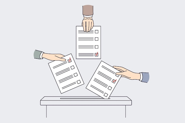 International voting and elections concept