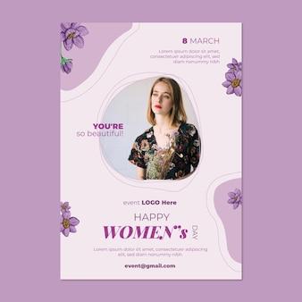 Международный женский день a5 vertical