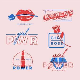 International women day badges