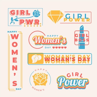 International women day badges