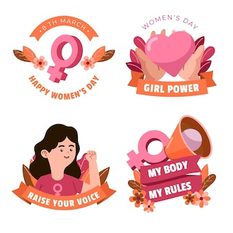 Distintivi della giornata internazionale delle donne