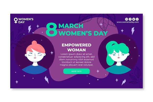 International women day banner template