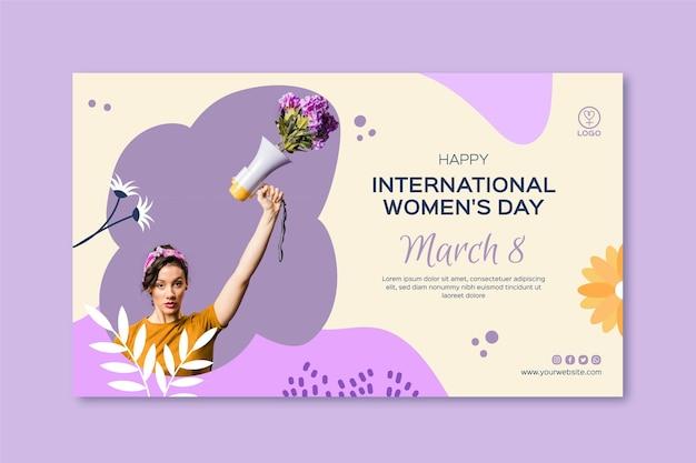 Международный женский день баннер Бесплатные векторы