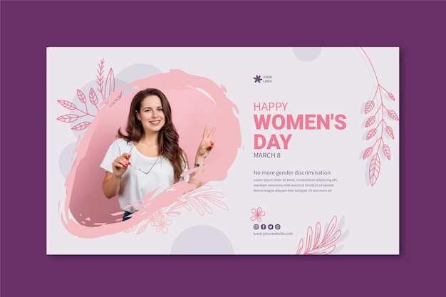 International women day banner