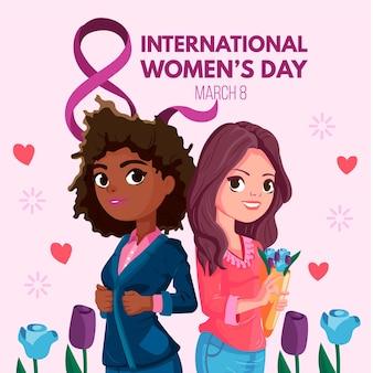 Дизайн мероприятий для международного женского дня Premium векторы