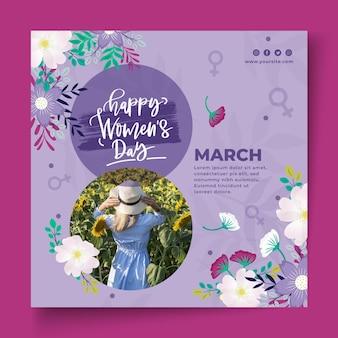 Modello di volantino per la giornata internazionale delle donne