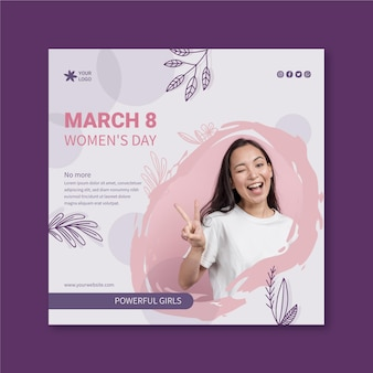 International women day flyer