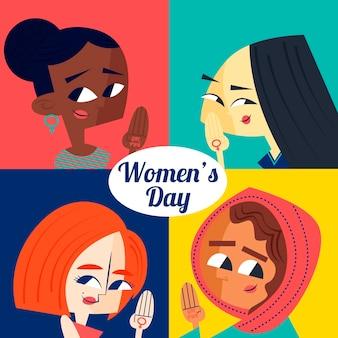 国際女性デー手描き