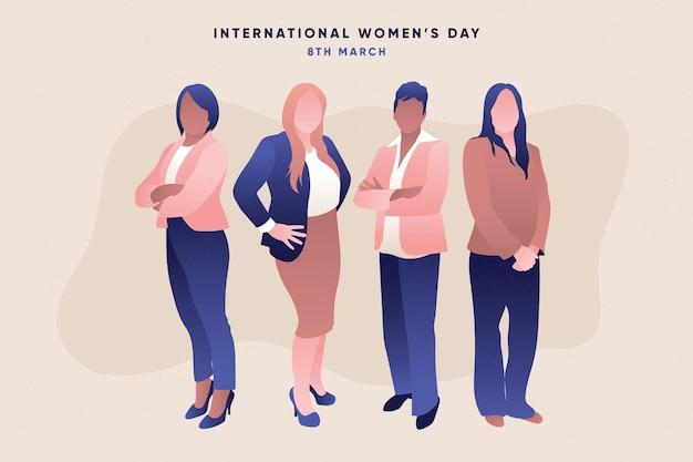 Illustrazione della giornata internazionale della donna