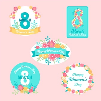 International women day label set