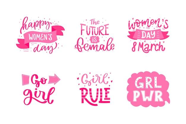 Etichetta della giornata internazionale della donna