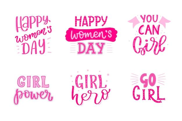 Этикетка международного женского дня