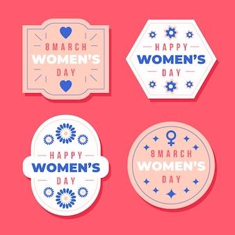 Этикетки международного женского дня Бесплатные векторы