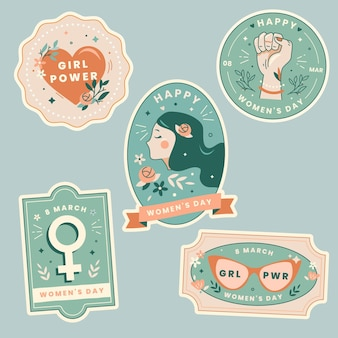 International women day labels