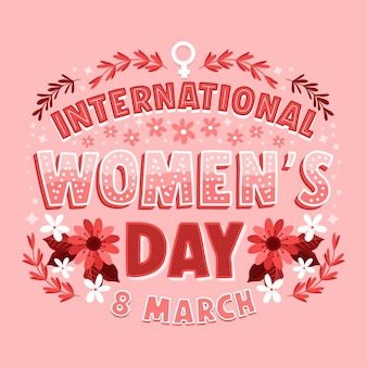 International women day lettering