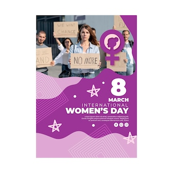 International women day poster template