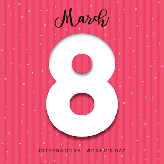 International women's day 3d poster background