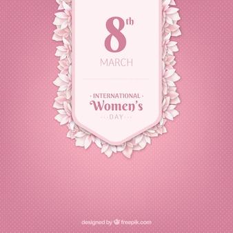 현실적인 스타일의 국제 여성의 날 배경