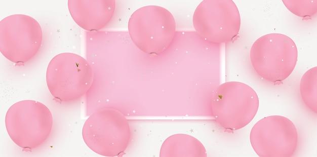 Международный женский день фон реалистичные воздушные шары дизайн