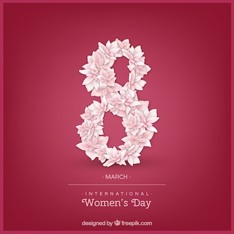 International women's day background in realistic style