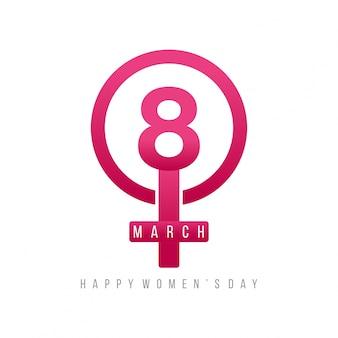 8 marzo rosa donne giorno simbolo ragazza con lettering