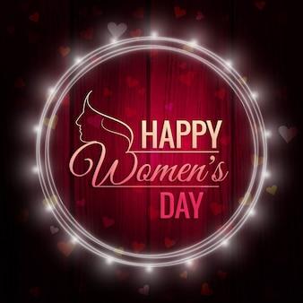 국제 여성의 날, 조명 프레임 배경