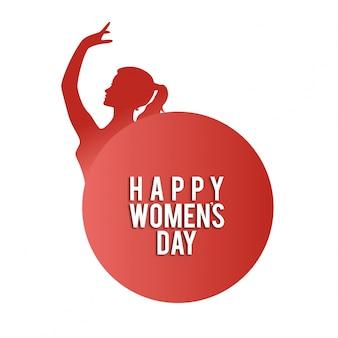Felice donne dancing day womens affrontare biglietto di auguri