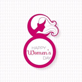 Festa della donna felice con il motivo di sfondo