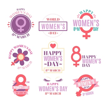 International women's day badge collection