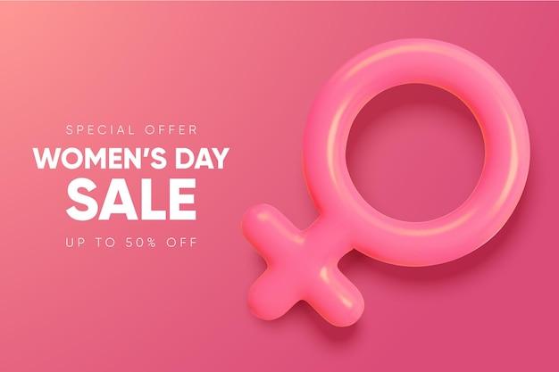 국제 여성의 날 배너. 3 월 8 일